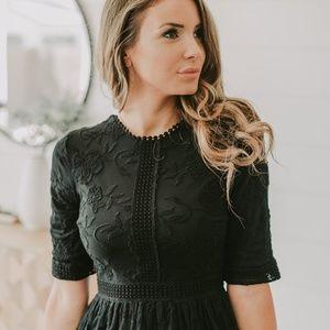 The Sierra Lace Dress in Black
